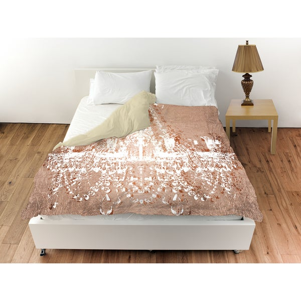 Oliver Gal 'Dramatic Entrance Rose' Duvet Cover