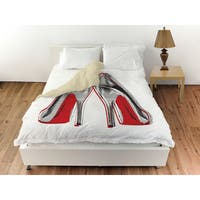 Oliver Gal 'Fire in your new shoes' Duvet Cover