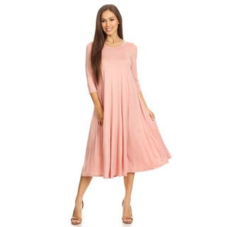 Women's Blush Solid Panel Dress|https://ak1.ostkcdn.com/images/products/15641008/P22071632.jpg?impolicy=medium