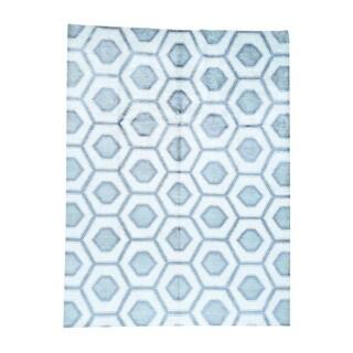 1800GetARug Silk Honeycomb Design Oriental Hand-Knotted Rug (9'0 x 12'0)