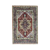 Shahbanu Rugs Heriz Oriental 100-percent Wool Hand-knotted Carpet (4' x 6')