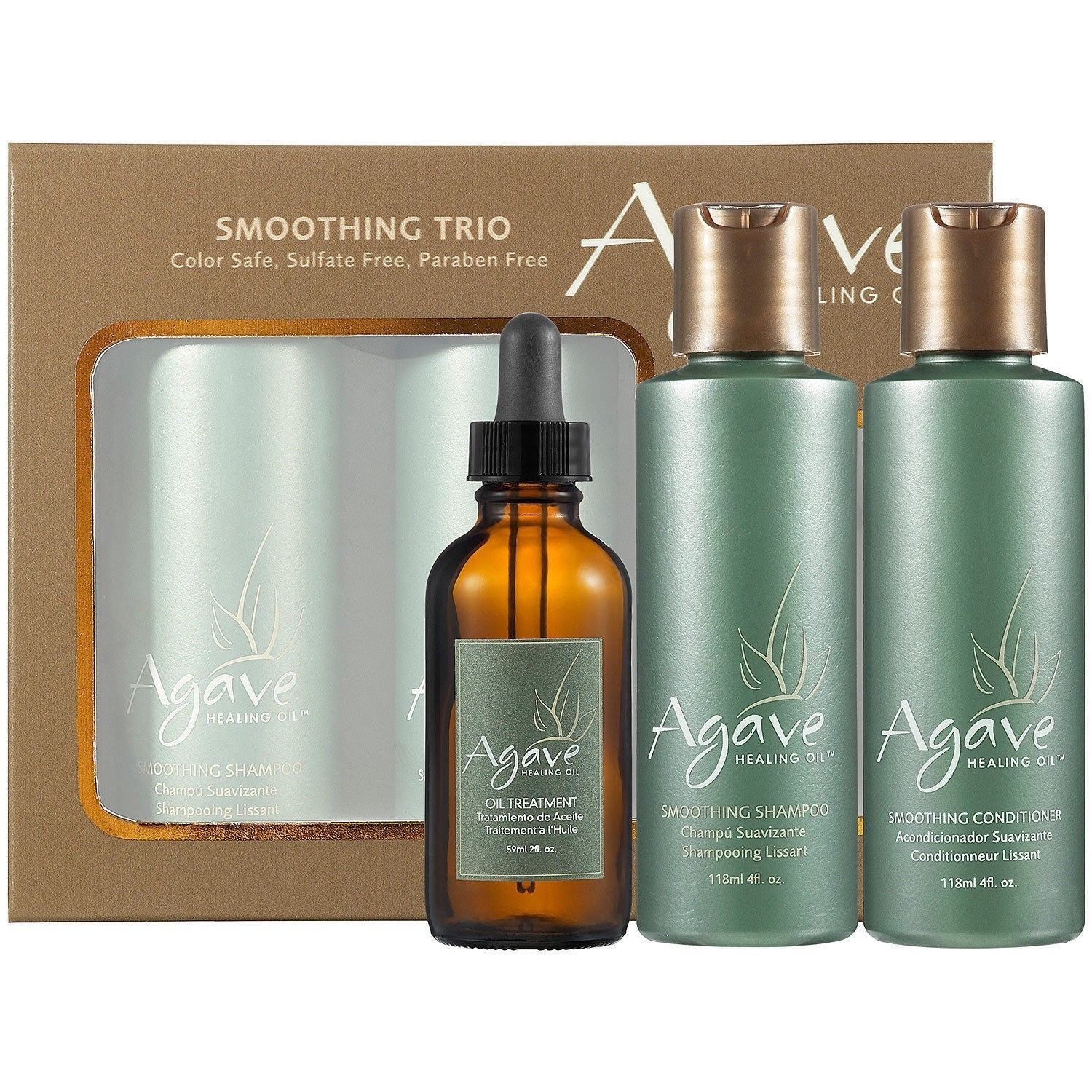Shop Agave Take Home Smoothing Haircare Trio Overstock 15642607