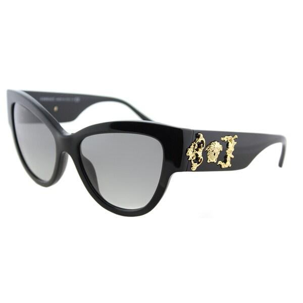 d6e5ee2ae9 Versace ve black plastic cat eye sunglasses grey gradient lens ec a e jpg  600x600 Black versace