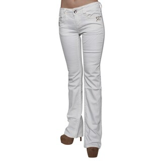 Sexy Couture S002-PB Women's Studded Stitched Rear Pockets Bootcut Jeans (Option: 30)