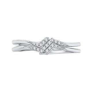14K White Gold 1/10ct TDW Diamond Fashion Ring (J-K, I1-I2)