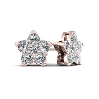 De Couer 1/2ct TDW Diamond Star Stud Earrings (H-I, I2)