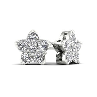 De Couer 1/2ct TDW Diamond Star Stud Earrings (H-I, I2)