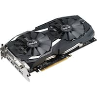 Asus DUAL-RX580-O8G Radeon RX 580 Graphic Card - 1.36 GHz Core - 1.38