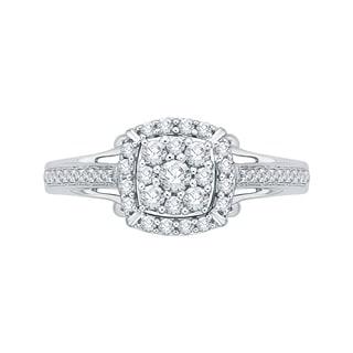 14K White Gold 1/2ct TDW Diamond Composite Engagement Ring (G-H, I2-I3)