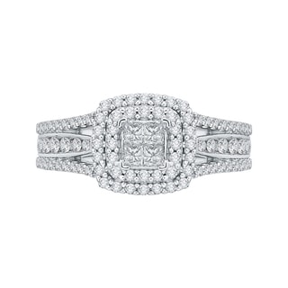 14K White Gold 7/8ct TDW Diamond Composite Engagement Ring (G-H, I2-I3)
