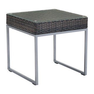 Zuo Malibu Brown and Silver Side Table