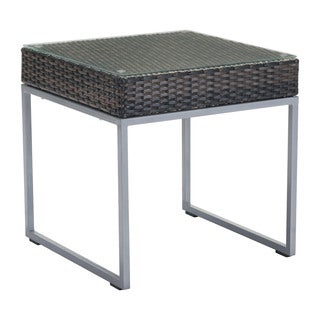 Havenside Home Waterfall Brown and Silver Side Table