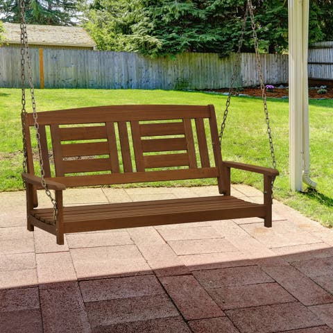 Ormond Hardwood Hanging Porch Swing with Chain by Havenside Home