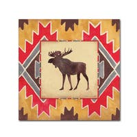 Stephanie Marrott 'Moose Blanket' Canvas Art