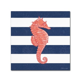 Stephanie Marrott 'Seahorse Stripe' Canvas Art