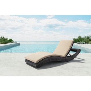 Pamelon Beach Brown/ Beige Chaise Lounge