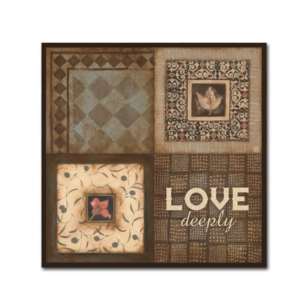 Stephanie Marrott 'Love Deeply' Canvas Art
