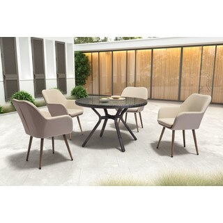 Zuo Pismo Indoor/ Outdoor Sunproof Taupe Dining Chair