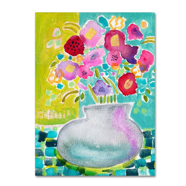 Wyanne 'Flowers From A Friend' Canvas Art
