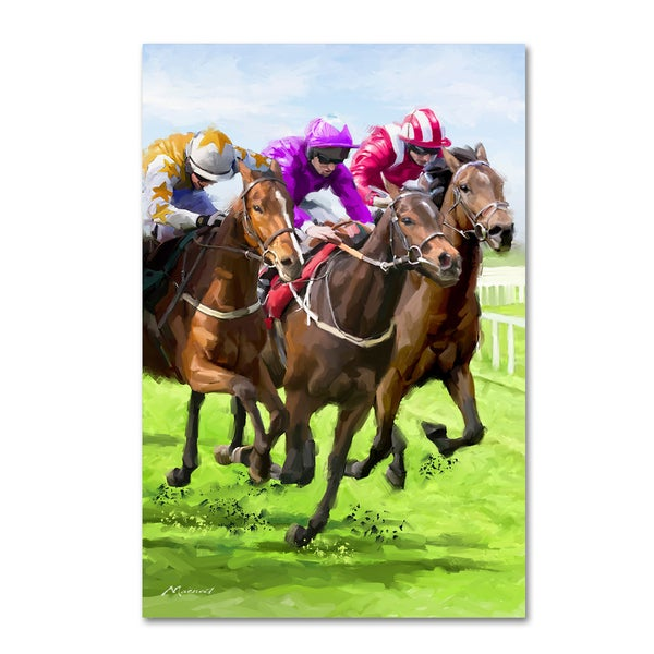 Shop The Macneil Studio 'Horse Racing' Canvas Art - Free