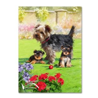 The Macneil Studio 'Yorkie Puppies' Canvas Art