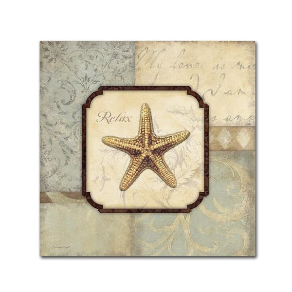 Stephanie Marrott 'Relax Starfish' Canvas Art
