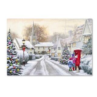 The Macneil Studio 'Snowy Village' Canvas Art