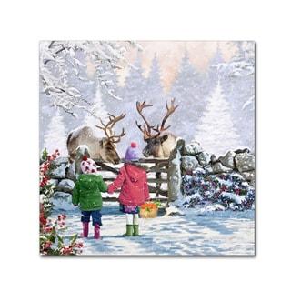The Macneil Studio 'Reindeer Pair' Canvas Art