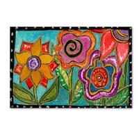 Wyanne 'Funky Flower Garden' Canvas Art