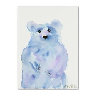 Wyanne 'Blue Bear' Canvas Art