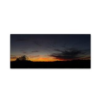 Kurt Shaffer 'Fading Colors of Sunset' Canvas Art
