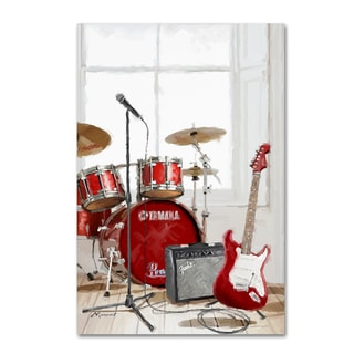 The Macneil Studio 'Drums and Guitar' Canvas Art