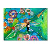 Wyanne 'Big Eyed Girls Together Is Better' Canvas Art