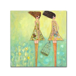 Wyanne 'Big Eyed Girls For The Best' Canvas Art