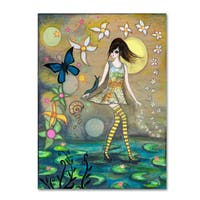 Wyanne 'Big Eyed Girl Truth' Canvas Art