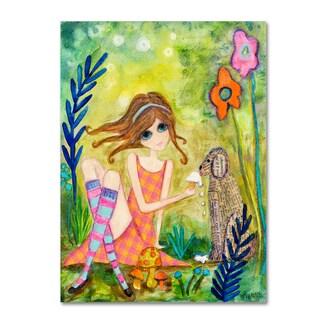 Wyanne 'Big Eyed Girl The Charmer' Canvas Art