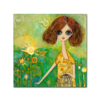 Wyanne 'Big Eyed Girl Should You Stay Or Should You Go' Canvas Art