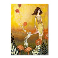 Wyanne 'Big Eyed Girl She Doesn't Want To Play' Canvas Art