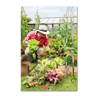 The Macneil Studio 'Gardening' Canvas Art