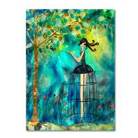 Wyanne 'Big Eyed Girl Second Thoughts' Canvas Art