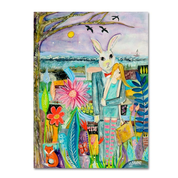 Wyanne 'Big Eyed Girl Promised Land' Canvas Art