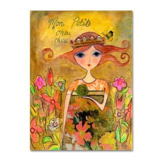 Wyanne 'Big Eyed Girl My Little Cabbage' Canvas Art