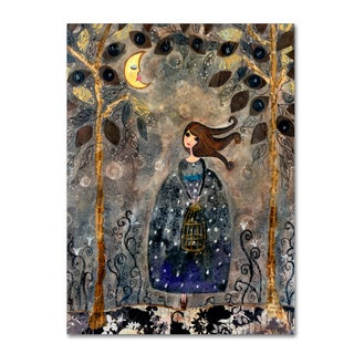 Wyanne 'Big Eyed Girl It's Getting Late' Canvas Art