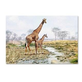 The Macneil Studio 'Giraffe' Canvas Art