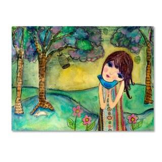 Wyanne 'Big Eyed Girl Free To Love' Canvas Art