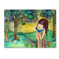 Wyanne 'Big Eyed Girl Free To Love' Canvas Art