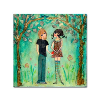 Wyanne 'Big Eyed Girl First Love' Canvas Art