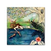 Wyanne 'Big Eyed Girl Daydream Believer' Canvas Art