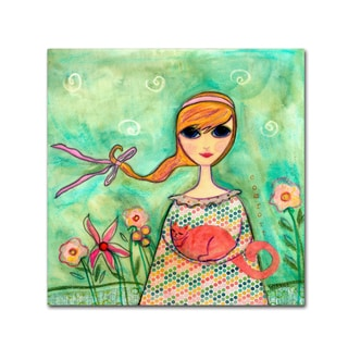 Wyanne 'Big Eyed Girl Comfort' Canvas Art