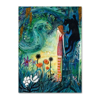 Wyanne 'Big Eyed Girl Can Of Worms' Canvas Art